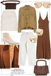 teetharejade,blogger,belt,bag,sunglasses,shirt,skirt,jewels,shoes,jeans,dress,fall outfits,ankle boots,belt bag