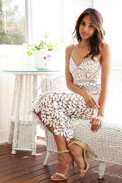 dress,white,crochet,midi