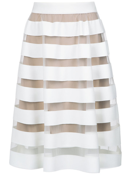 Gloria Coelho skirt flare skirt flare women spandex white