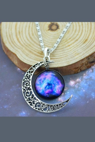 jewels moon necklace hippie