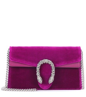 leather clutch clutch leather velvet purple bag