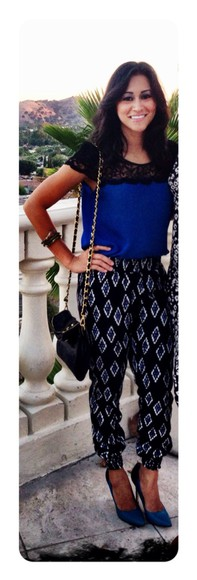 pants tribal pattern lace top aztec tribal pants lace top\ printed pants fashion style trend fashion trend
