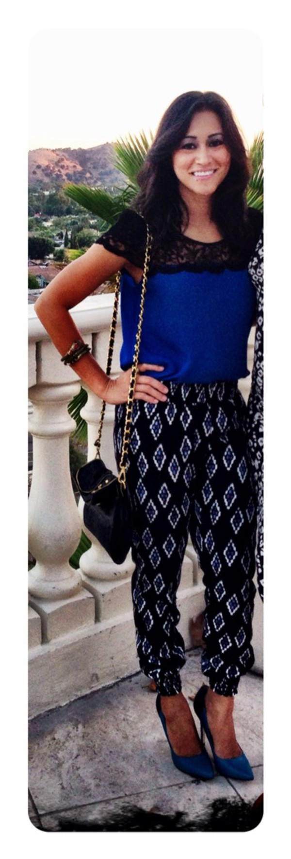 lace top aztec tribal pattern tribal pants pants lace top\ printed pants fashion style trendy fashion trend