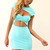 Teal/Turquoise Mini Dress - Teal Cut-out Dress with Sweetheart | UsTrendy
