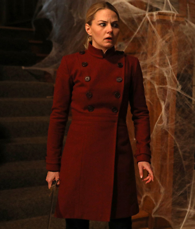 Jennifer Morrison Emma Swan Double Breasted Trench Coat