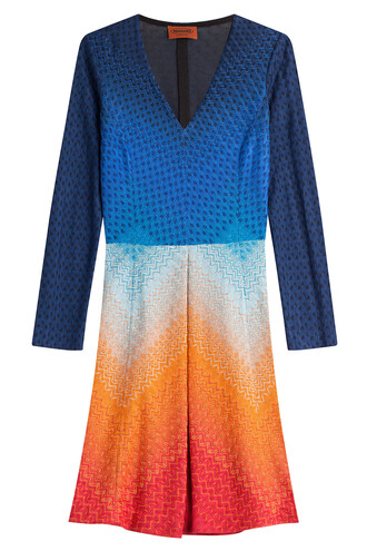 dress knit crochet multicolor