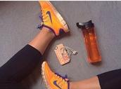 shoes,nike,nike running shoes,nike sneakers,sneakers,orange