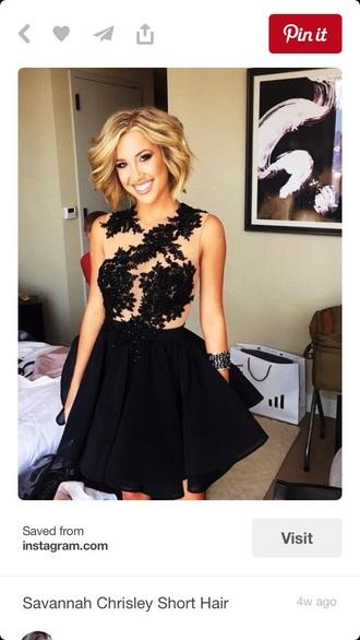 dress black short dress