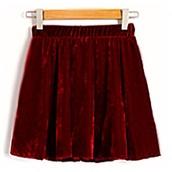 skirt,red velvet,skater skirt,circle skirt