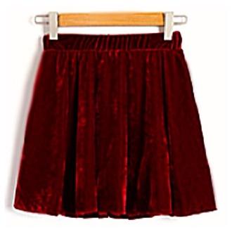 skirt red velvet skater skirt circle skirt