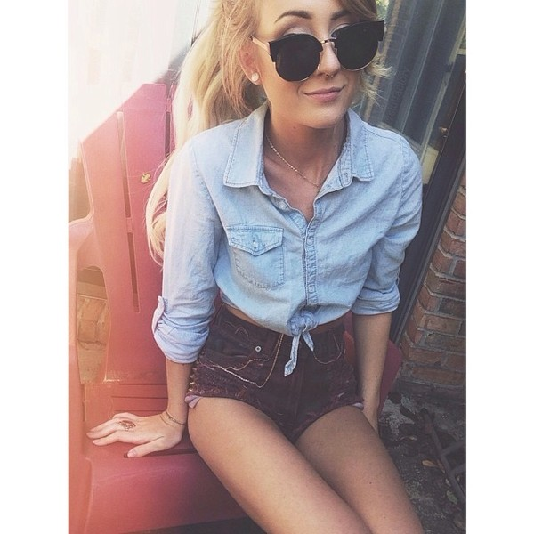 sunglasses shorts shirt