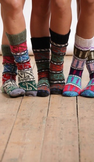 socks navajo colorful