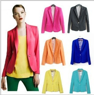 2013 Candy New Fashion Women's  Coat Jacket Small Suit Jacket Suits Wholesale Price Blazers White Blue Neon Color Coat for Women-inBlazer & Suits from Apparel & Accessories on Aliexpress.com