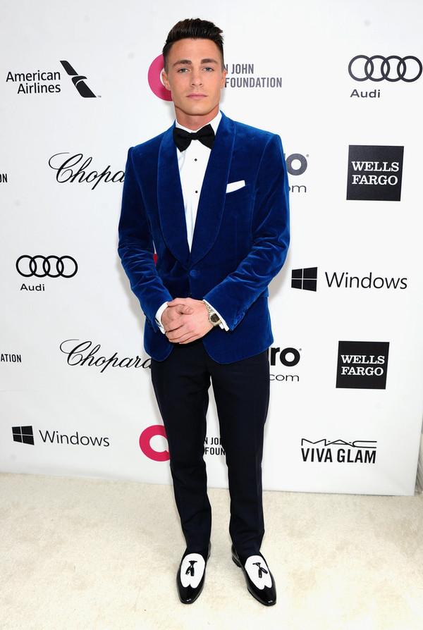 Shoes: jacket, suit, blue velvet, suit jacket, colton haynes ...