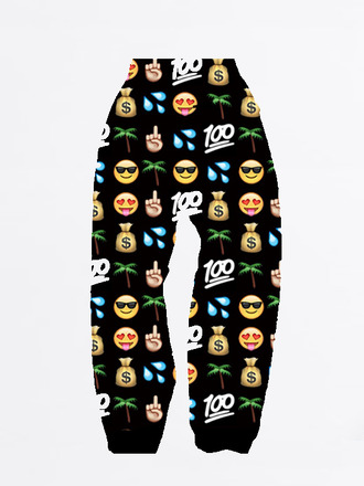 clothes celebrity joggers emoji print emoji pants hot pants dope 100 india westbrooks wolftyla