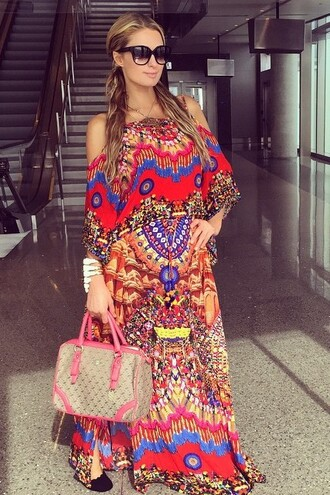 dress madame julietta colorful paris hilton summer dress off the shoulder