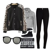 jacket,black,leopard print,sportswear,outfit,fashion,shein,36683
