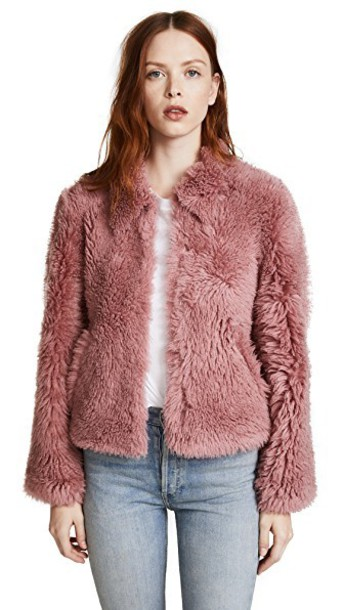 Madewell jacket shearling jacket pink