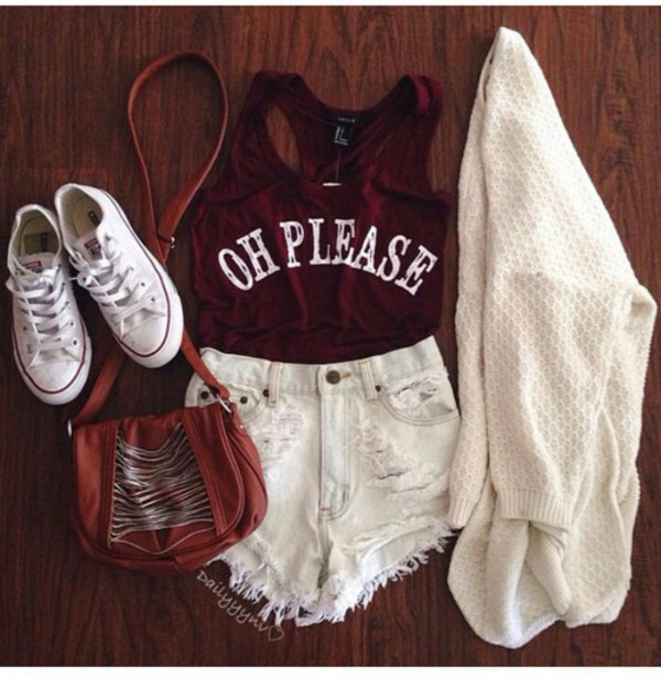 t-shirt white shorts tank top oh please red top cool shirt summer top cardigan shorts sweater cream sweater warm sweater cute top top leggings oh please crop top white cardigan red crop tops tumblr outfit