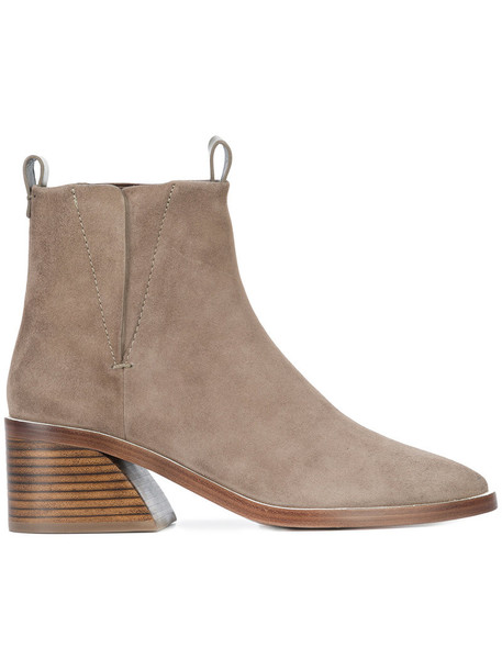 women classic leather nude suede shoes