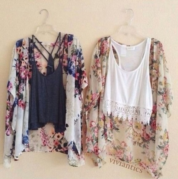 western tank top white top crop tops t-shirt cardigan floral blanche