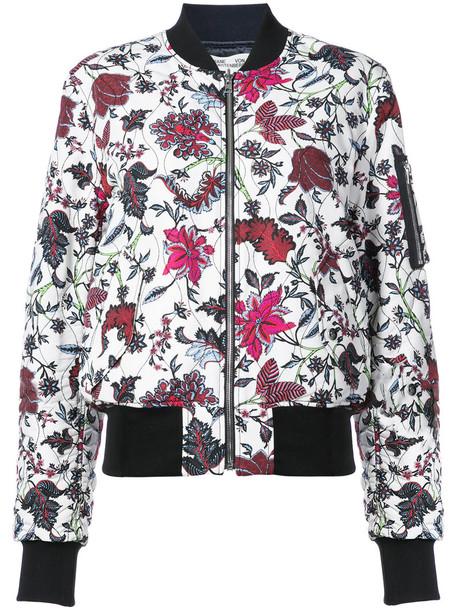 Dvf Diane Von Furstenberg jacket bomber jacket women floral white print