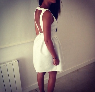 dress white dress dos nu decollete dans le dos white lace dress robe courte short party dresses wedding dresess
