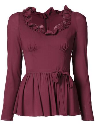 top women spandex silk purple pink