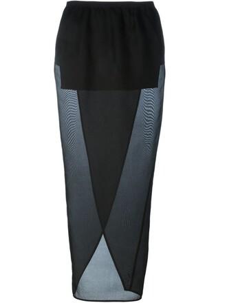 skirt wrap skirt black