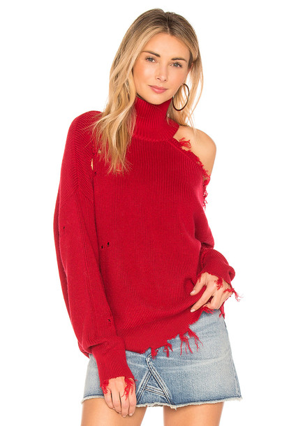 Lovers + Friends sweater red