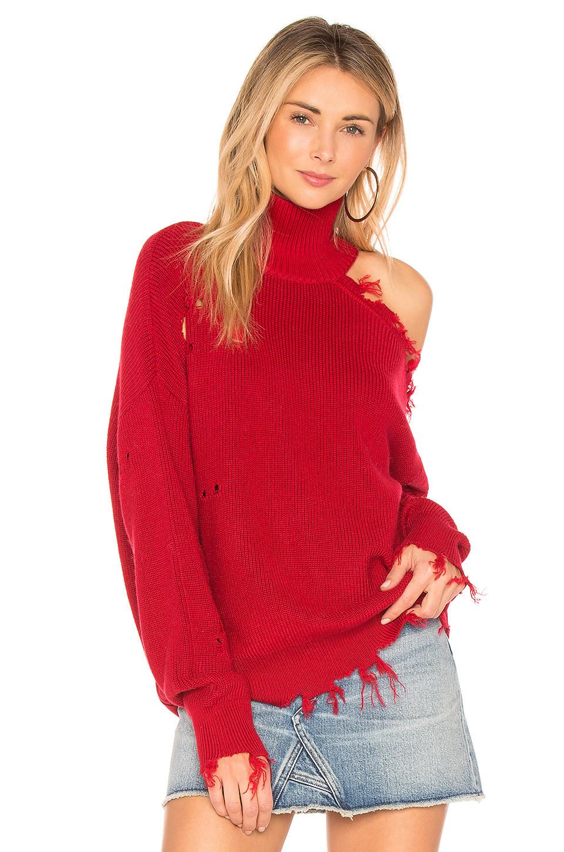 Lovers + Friends Arlington Sweater in red