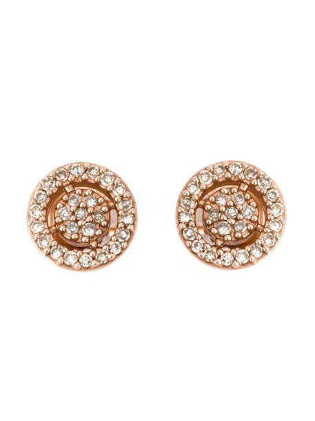 mini rose gold rose women earrings stud earrings gold grey metallic jewels