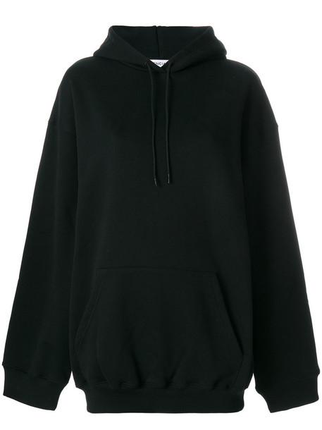 Balenciaga - Balenciaga Cocoon hoodie - women - Cotton - M, Black, Cotton