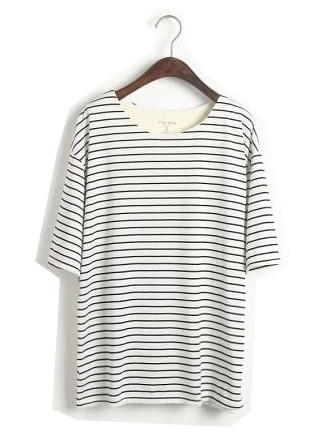 Oversized Stripe Tee   Outfit Made