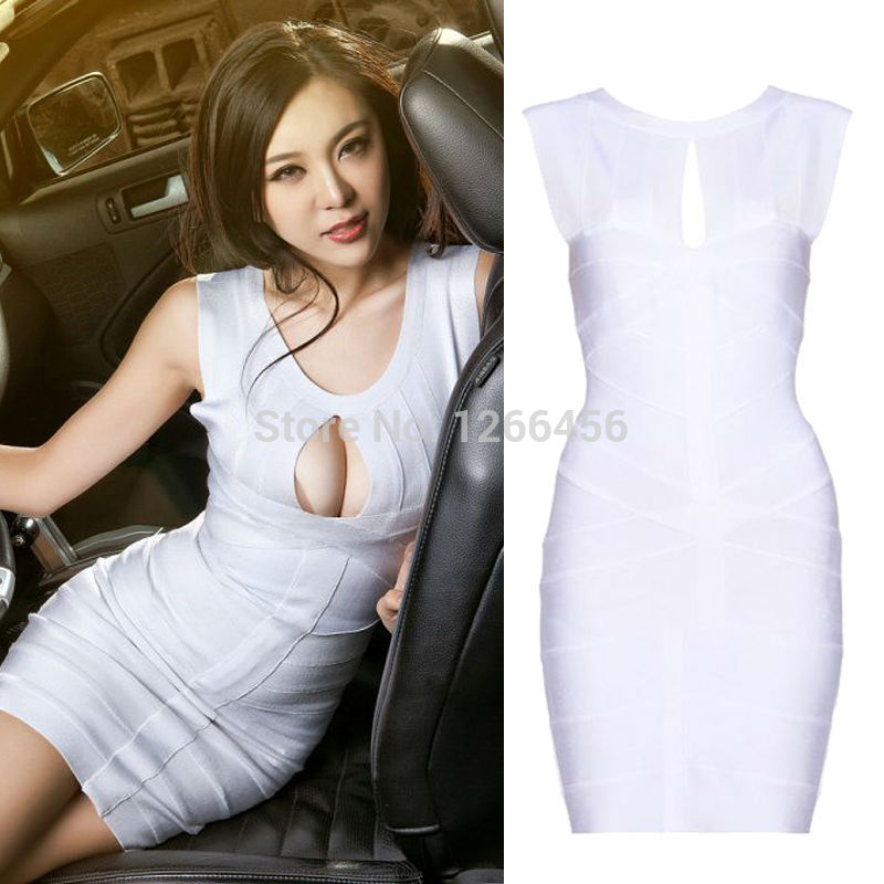 Aliexpress.com : Buy Hot Sale 2014 Women Sexy White KeyHole Halter Bandage Dress 90%Rayon Factory Direct wedding dresses H065 from Reliable dress fringe suppliers on Lady Go Fashion Shop