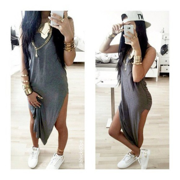 grey dress accesoires