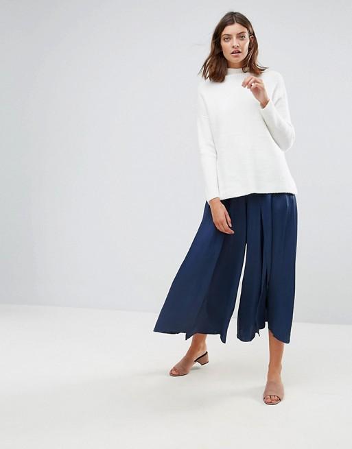 Just Female Beyer Wide Leg Trousers at asos.com