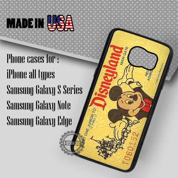 Samsung S7 Case - Ticket Vintage Retro- iPhone Case #SamsungS7Case #mickeymouse #yn