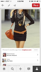 scarf,cute,black,brown,leopard print,pinterest,belt,dress,jewels