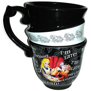 Your WDW Store - Disney Coffee Cup Mug - Alice In Wonderland - Triple Stack