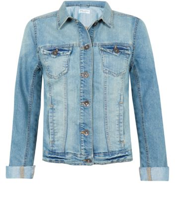 Light Blue Faded Denim Jacket