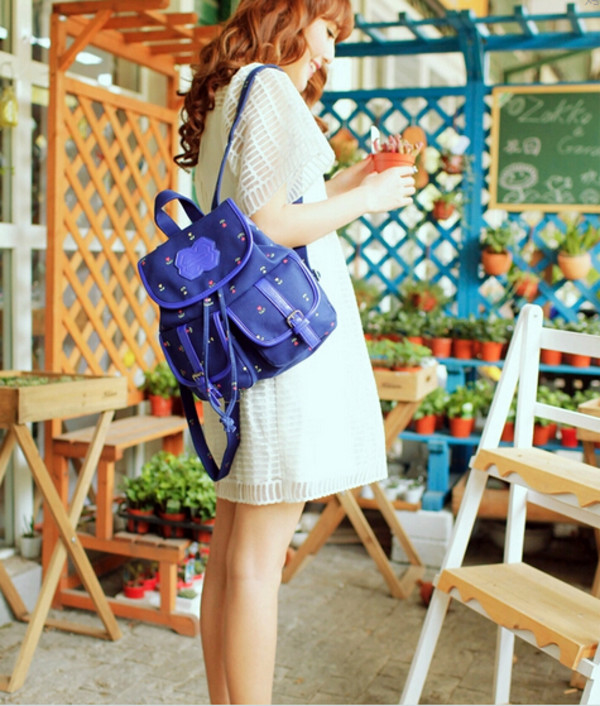 bag backpack blue backpack