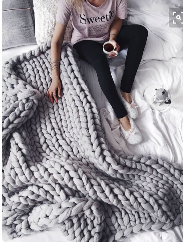 home accessory blanket knitted throw blanket chunky