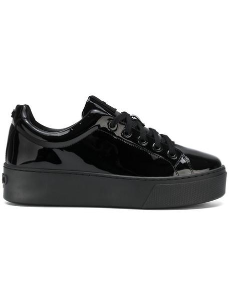 Kenzo women sneakers low top sneakers leather black shoes