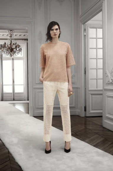 fashion lookbook chloé shirt pants