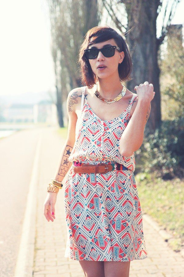 red dress lovely ethnic aztec aztec colorful patterned dress dress