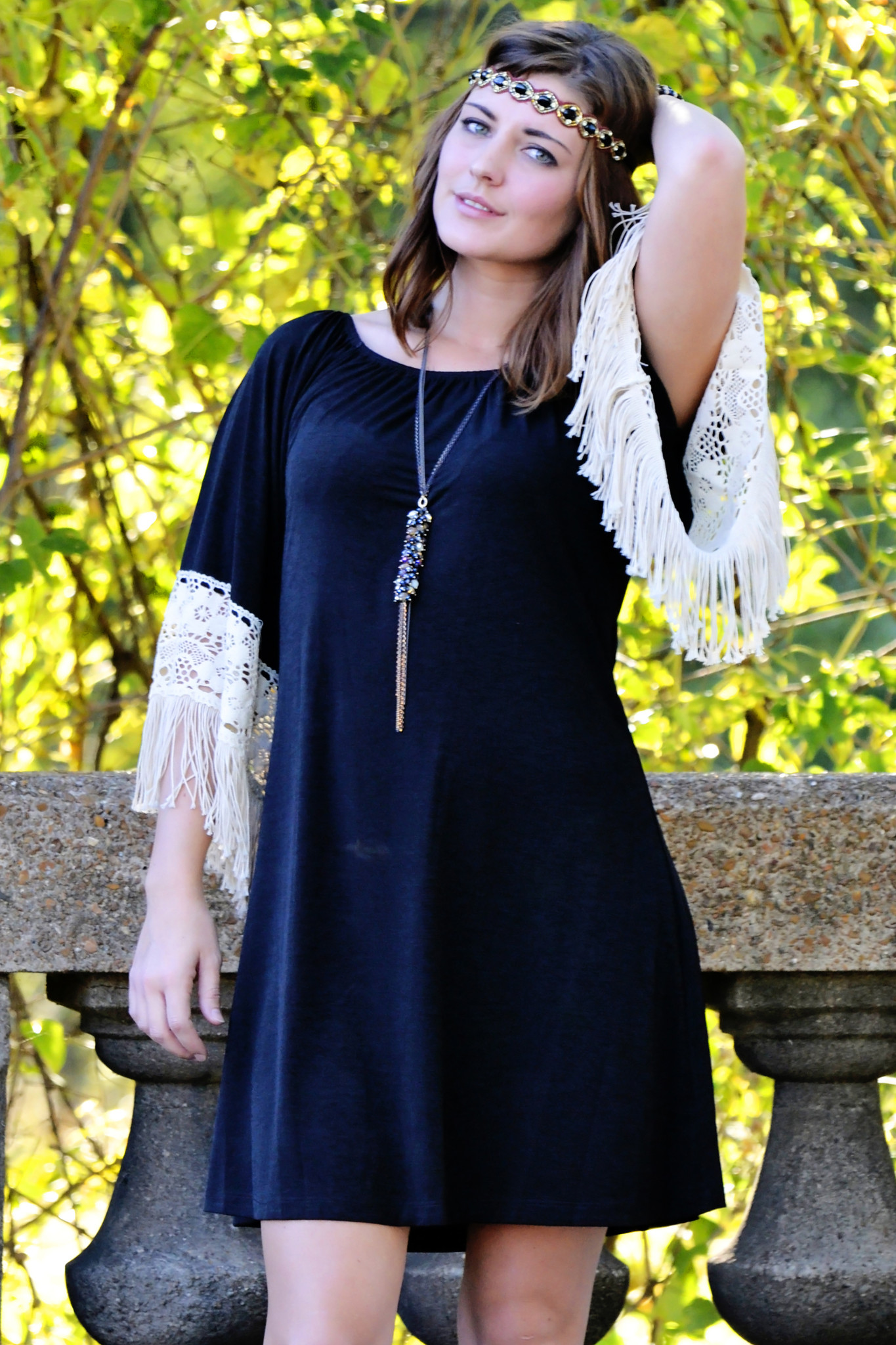 Deep south fringe dress