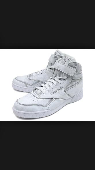 shoes rebok high tops sneakers streetwear