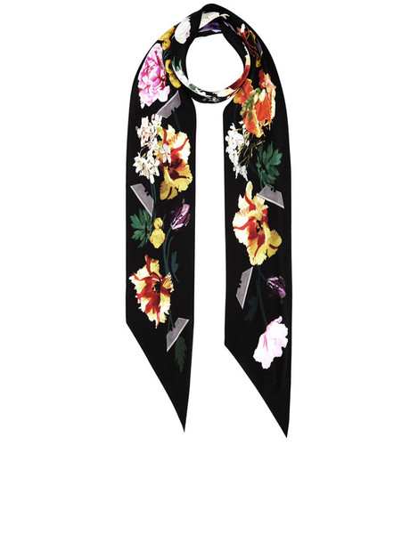 Rockins scarf black silk