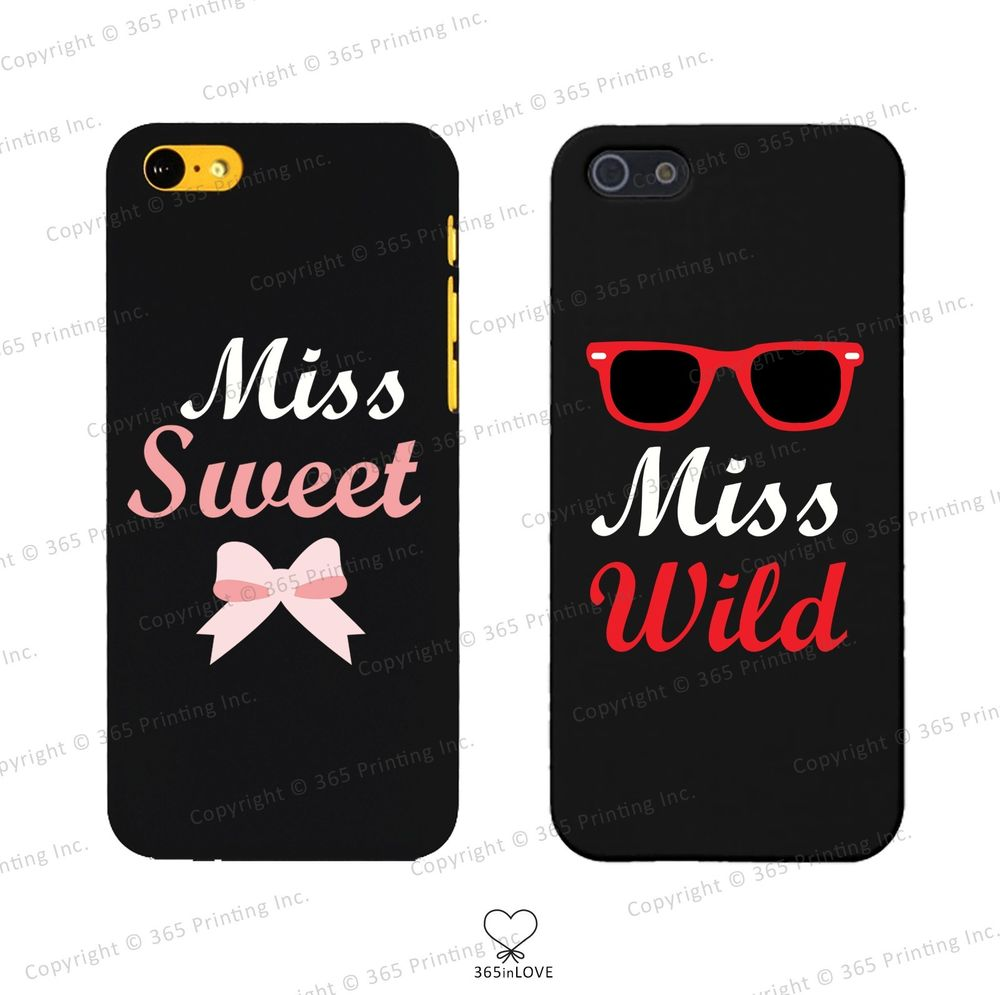 Miss Sweet Miss Wild Matching BFF Phone Covers iPhone 4 5 5c Galaxy S3 S4 S5 | eBay